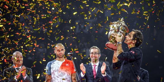 Federer komt op 99 toernooizeges door negende eindwinst in Basel
