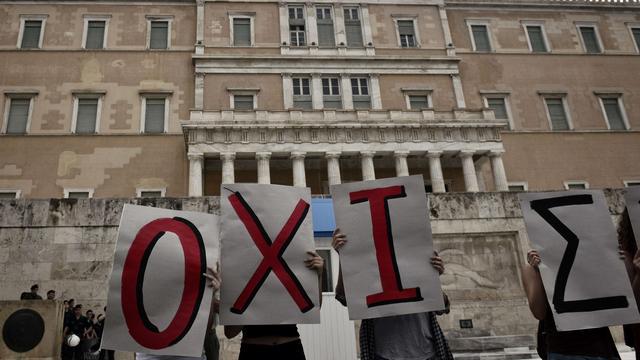 'Nee' komt eerst op Grieks referendumbiljet