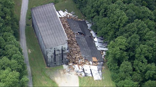 Opslagplaats met bourbonvaten ingestort in Kentucky