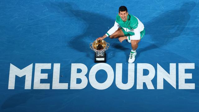 Novak Djokovic schreef dit jaar voor de negende keer de Australian Open op zijn naam.
