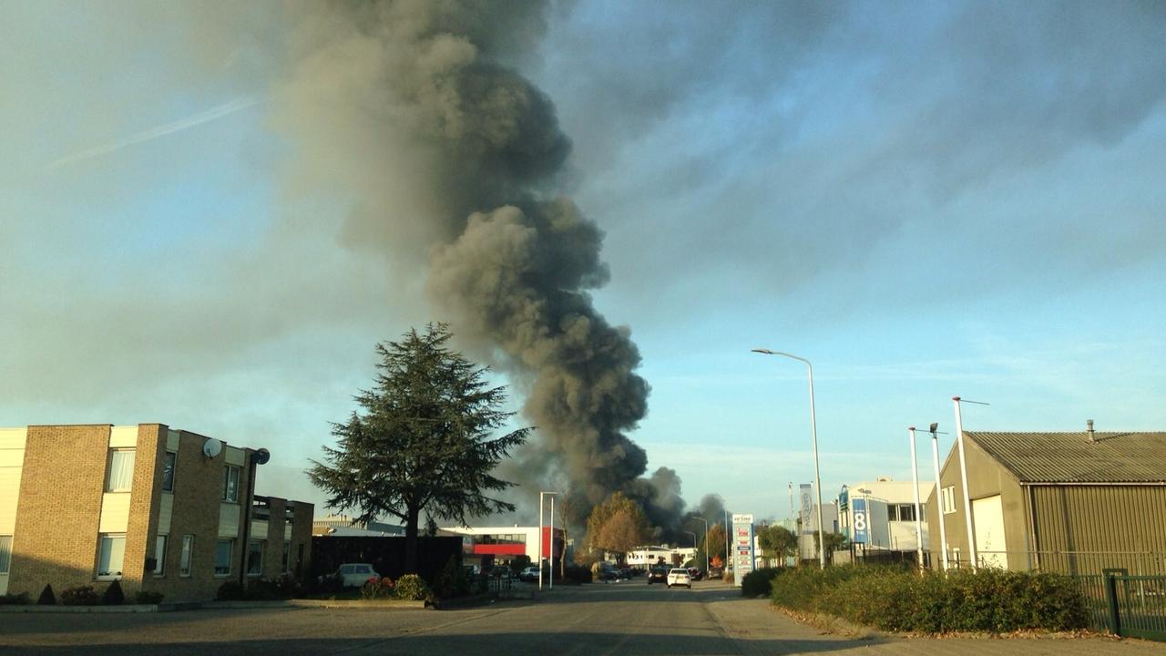 Weer grote brand op industrieterrein in Tiel