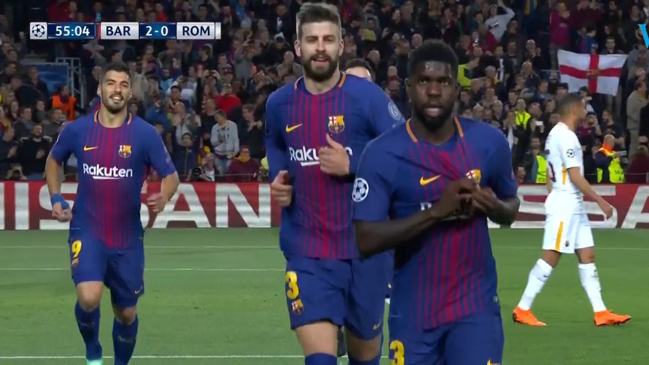 Barça op 2-0 door tweede eigen doelpunt Roma