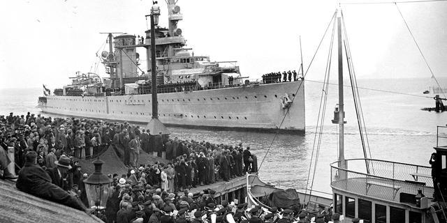 'Geen spoor van Nederlandse oorlogsschepen Javazee'