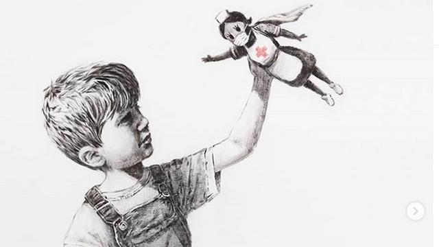 Banksy doneert schilderij aan ziekenhuis; veiling ten bate van Britse zorg