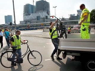 Eind januari moeten alle fietsen weg