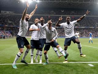 Ploeg van Didier Deschamps wint met 3-1 in Nice