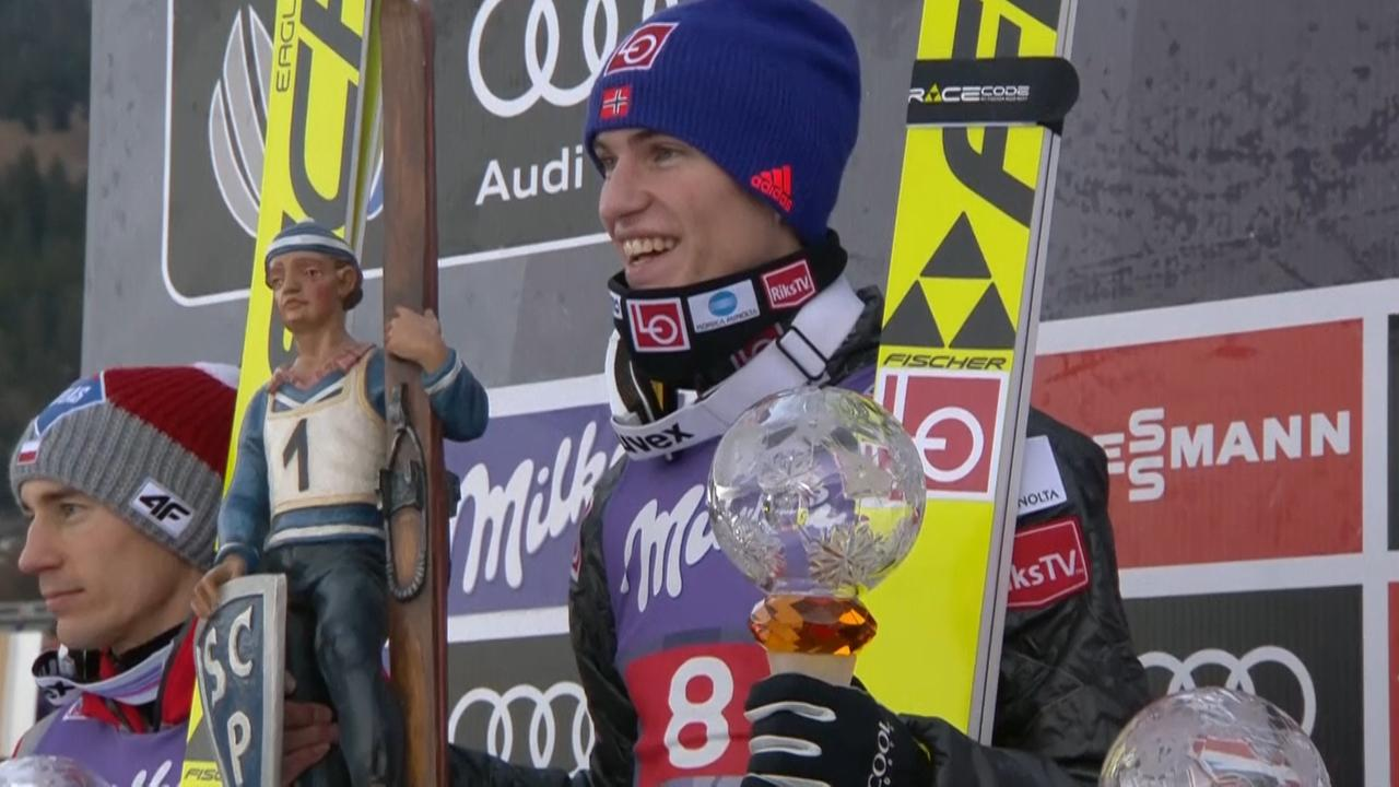 Noor Tande wint schansspringen in Garmisch-Partenkirchen