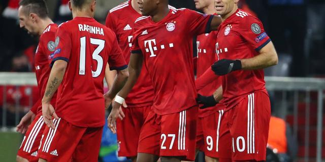 Robben leidt Bayern langs Benfica, ook City, United en Juventus verder
