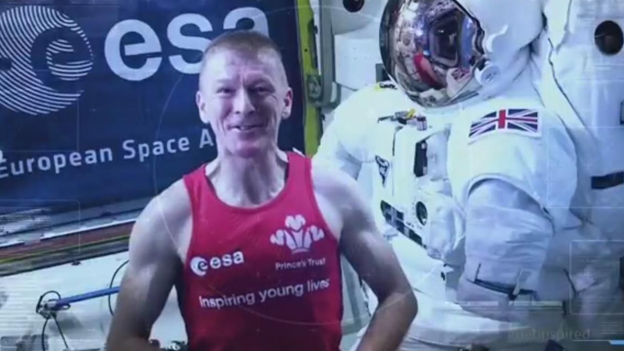 Britse astronaut Tim Peake loopt eerste ruimtemarathon