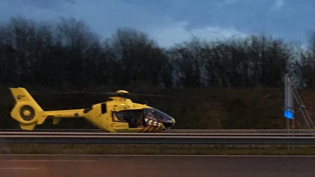A15 bij Rotterdam lange tijd afgesloten na ernstig ongeluk