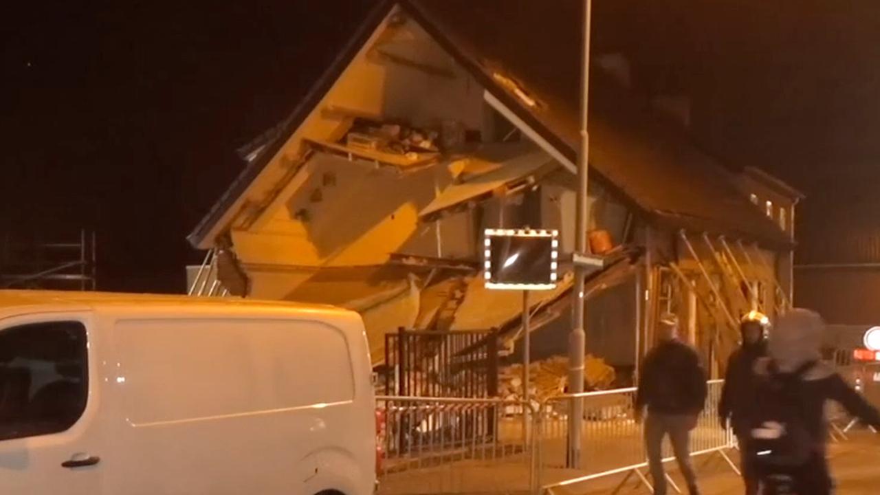 Gevel huis stort in na werkzaamheden in made nu het laatste