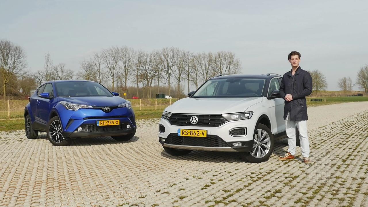 Eerste dubbeltest: Volkswagen T-Roc tegen de Toyota C-HR