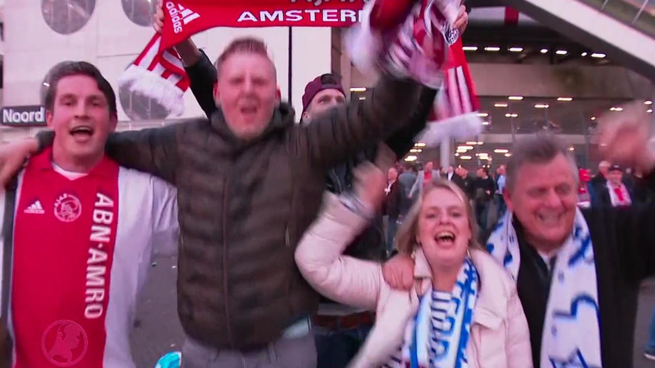 Groot feest in en rondom Johan Cruijff Arena na winst Ajax in Europa League