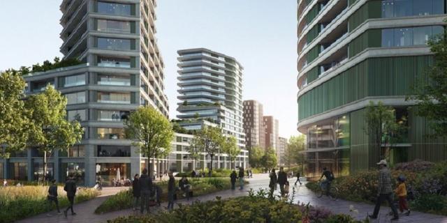 Ontwikkelaar werkt aan torens tot 115 meter hoog bij Willem de Zwijgerlaan