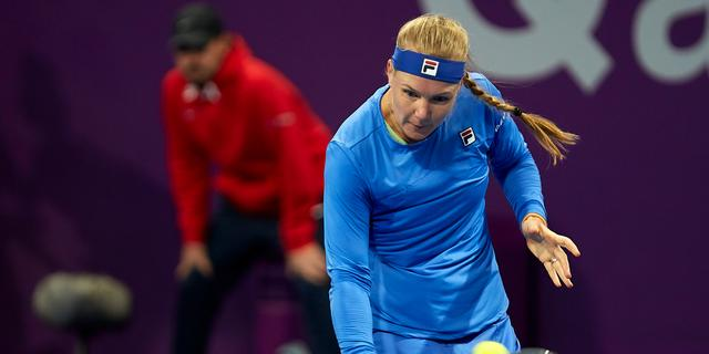 Zegereeks Bertens komt ten einde met driesetter tegen Zheng in Doha