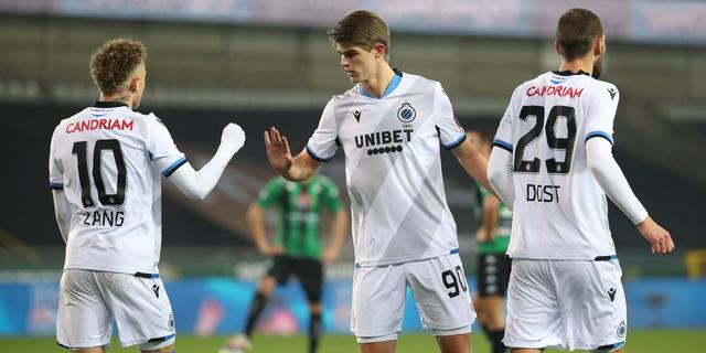 Lang helpt Brugge aan zege in derby, Napoli naar laatste vier Coppa Italia