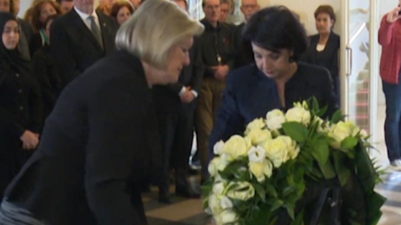 Kamervoorzitters leggen krans voor oorlogsslachtoffers
