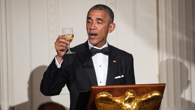 Dit at Obama tijdens zijn allerlaatste staatsdiner