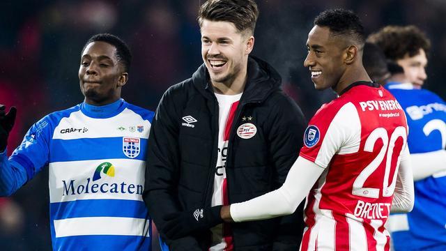 PSV zonder aanvoerder Van Ginkel tegen Excelsior