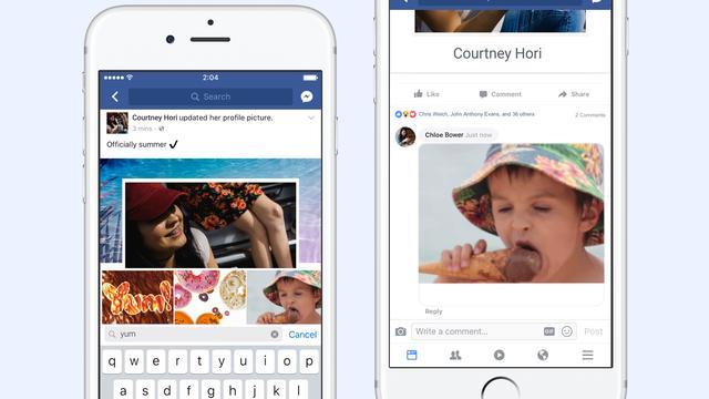 Facebook laat alle gebruikers reageren met bewegende gifjes