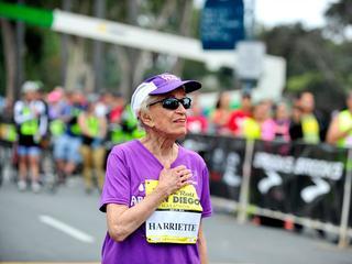 Oudste vrouw ter wereld die ooit een marathon liep