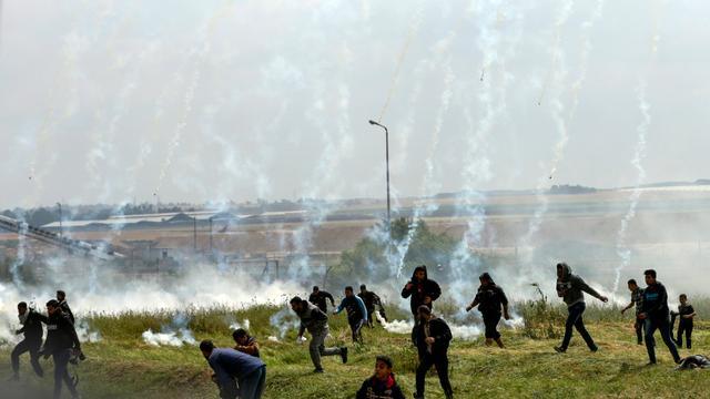 Meerdere doden en gewonden bij Palestijns protest in Gazastrook