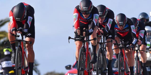 Openingstijdrit Tirreno weer prooi voor BMC, Dumoulin en Sunweb vijfde