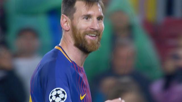 Messi maakt uit vrije trap honderdste Europese treffer