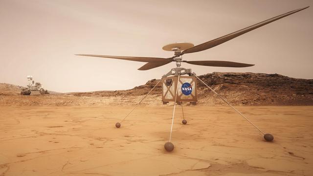 Eerste helikopter voor Mars gaat laatste testfase in