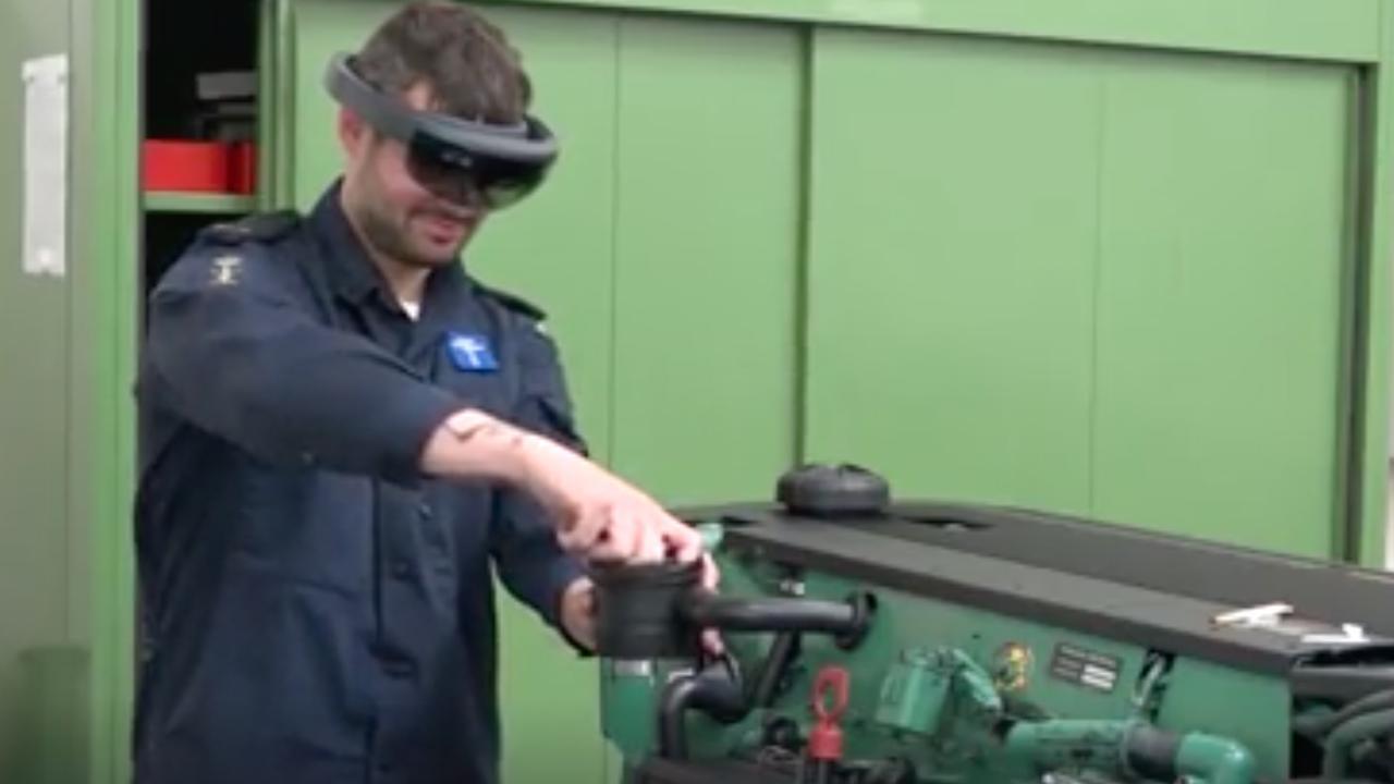 Marine maakt met augmented reality repareren van schepen simpeler