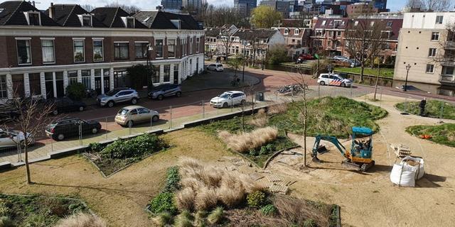 Gemeente bouwt 'tiny forest' op hoek van Musschenbroekstraat