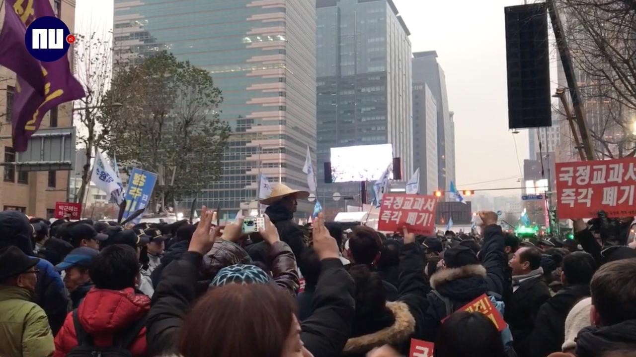 Grootste protest sinds weken tegen president Zuid-Korea