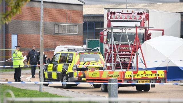 39 lichamen gevonden in vrachtwagen in Verenigd Koninkrijk
