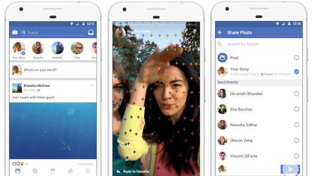 Facebook test Stories-functie gelijk aan Snapchat en Instagram