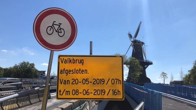 Nieuwe Valkbrug drie weken dicht voor gemotoriseerd verkeer