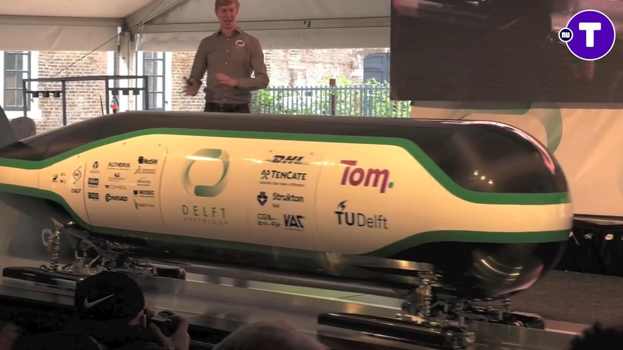 Eerste test met Delftse Hyperloop