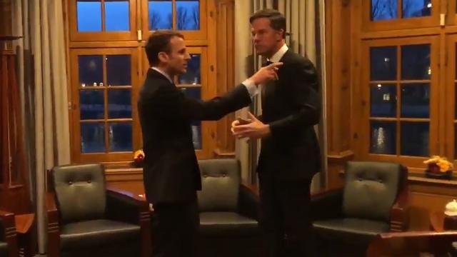 Macron kapt Rutte af bij rondleiding door Torentje