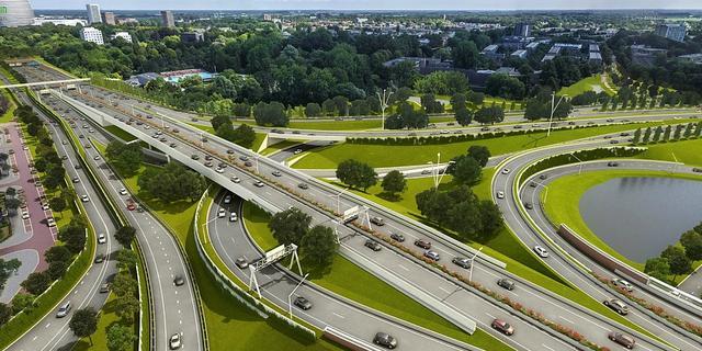 Zuidelijke ringweg tussen Julianaplein en Europaplein weer open voor verkeer