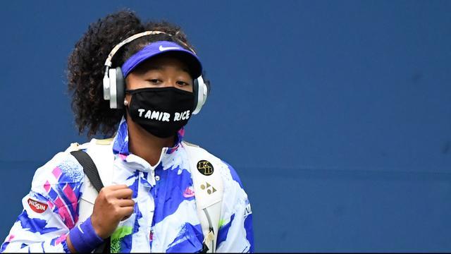 Naomi Osaka droeg op de US Open mondkapjes met daarop de namen van zwarte Amerikanen die om het leven zijn gekomen door politiegeweld.