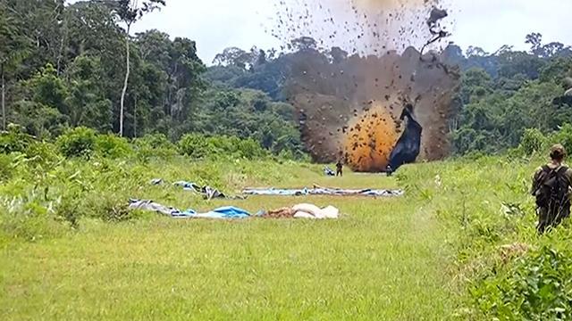 Landingsbanen drugscartels opgeblazen met dynamiet in Peru