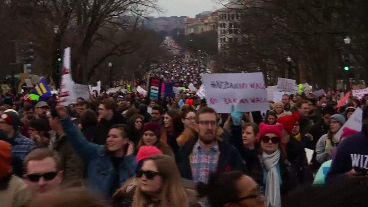 Groot protest in Washington tegen inreisverbod