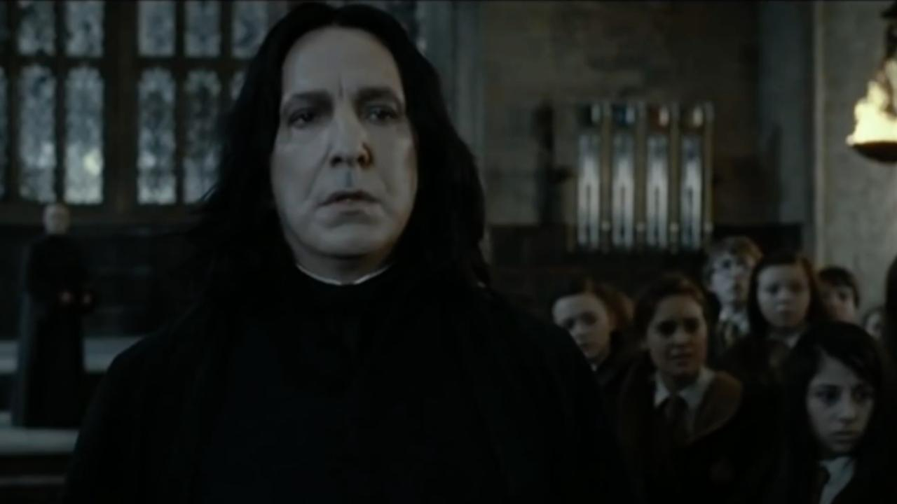 Alan Rickman speelt Snape in Harry Potter