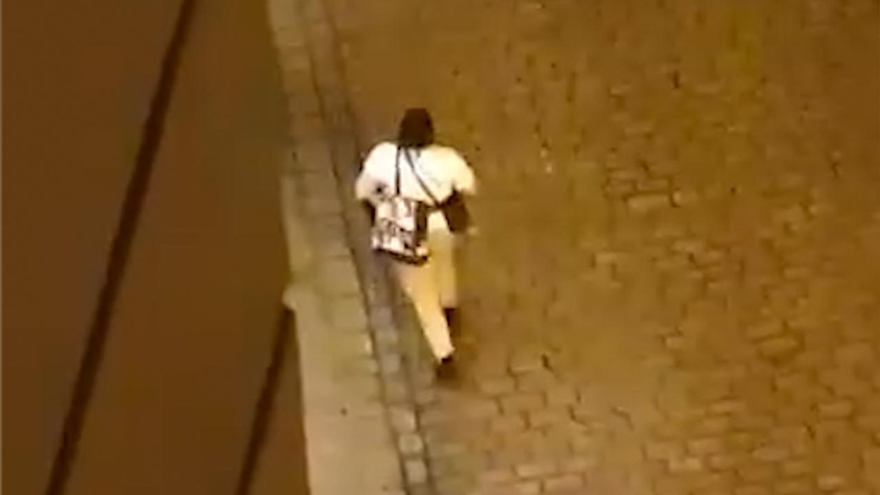 Omstanders filmen schietende man in straten van Wenen