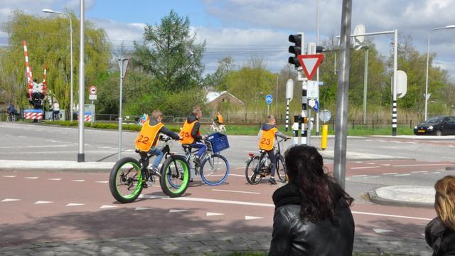 Leerlingen op weg naar verkeersdiploma