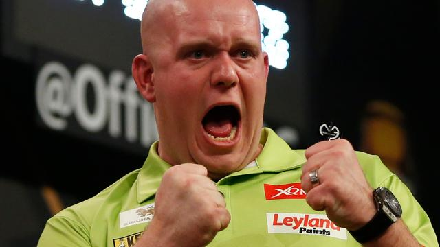 Van Gerwen euforisch na eindzege op Grand Slam of Darts