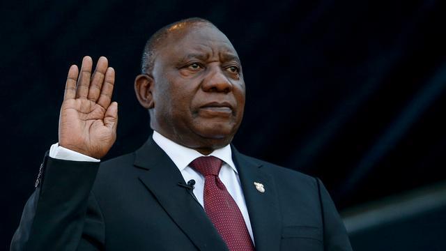 Zuid-Afrikaanse president Ramaphosa begint aan nieuwe termijn