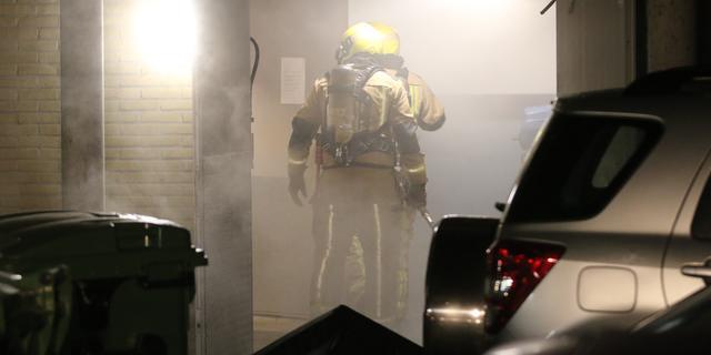 Veel rookontwikkeling bij brand in seniorencomplex aan Mozartlaan