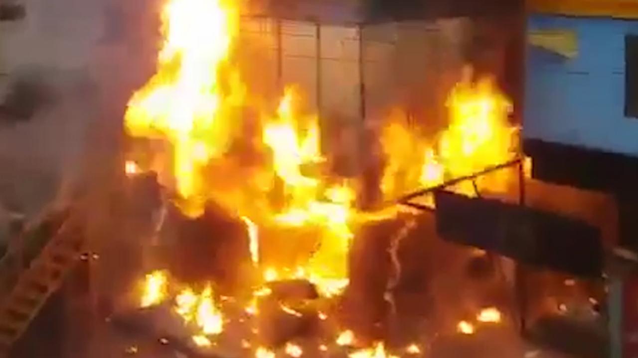 Man uit India filmt gasexplosie in restaurant van dichtbij
