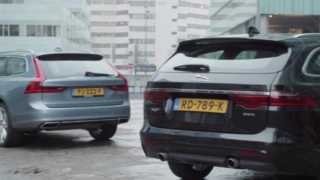 Eerste dubbeltest: Jaguar XF Sportbrake tegenover Volvo V90