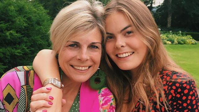 Laurentien met dochter Eloise.